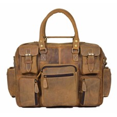 Belfort Laptop Bag -Tan Color