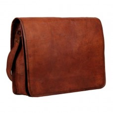 Vintage Style Leather Messenger Bag.